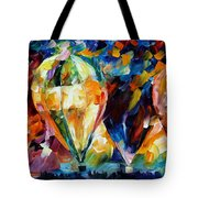 Balloon Parade - Palette Knife Oil Painting On Canvas By Leonid Afremov Tote Bag