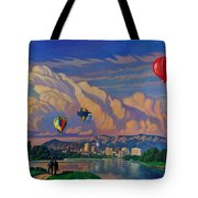 Ballooning On The Rio Grande Tote Bag