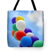 Balloons Against A Cloudy Sky Tote Bag