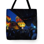 Balloons In The Crowd Tote Bag