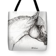 Balon Polish Arabian Horse Portrait 3 Tote Bag