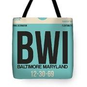 Baltimore Airport Poster 1 Tote Bag by Naxart Studio