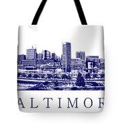 Baltimore Blueprint Tote Bag