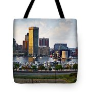 Baltimore Harbor Skyline Panorama Tote Bag