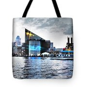 Baltimore - Harborplace - Inner Harbor At Night  Tote Bag