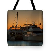 Baltimore Inner Harbor Marina At Dawn I Tote Bag