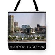 Baltimore Inner Harbor Panorama Tote Bag