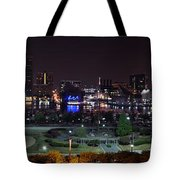 Baltimore Inner Harbor Skyline Night Panorama Tote Bag
