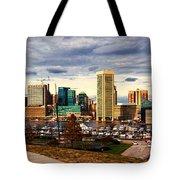 Baltimore Inner Harbor Skyline Panorama Tote Bag