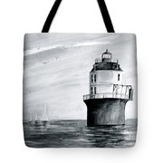 Baltimore Lighthouse In Gray  Tote Bag