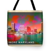 Baltimore Maryland Skyline Tote Bag