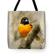 Baltimore Oriole Watercolor Art Tote Bag