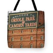 Baltimore Orioles Park At Camden Yards Tote Bag