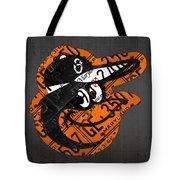 Baltimore Orioles Vintage Baseball Logo License Plate Art Tote Bag
