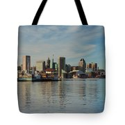 Baltimore Skyline Across The Harbor Tote Bag