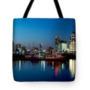 Baltimore Skyline At Dusk Tote Bag