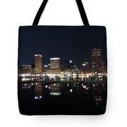 Baltimore Skyline At Night Tote Bag