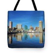 Baltimore Skyline From The Innner Harbor Tote Bag