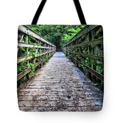 Bamboo Forest Bridge Tote Bag