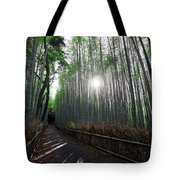 Bamboo Forest Path Of Kyoto Tote Bag by Daniel Hagerman