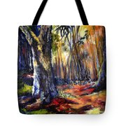 Bamboo Garden With Bunny Tote Bag