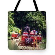 Bamboo River Rafting Tote Bag