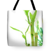 Bamboo Stems And Leaves Tote Bag