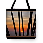 Bamboo Sunset - Black Frame Tote Bag