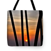 Bamboo Sunset Tote Bag