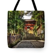 Bamboo Temple Tote Bag
