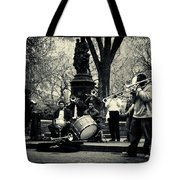Band On Union Square New York City Tote Bag by Sabine Jacobs