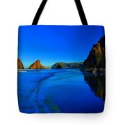 Bandon Blue And Gold Tote Bag by Adam Jewell