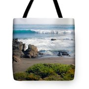Bands Of Green Brown And Blue Of The Beach Tote Bag