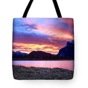 Banff Sunrise Six Minutes Later Tote Bag