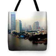 Bangkok In Early Morning Light Tote Bag
