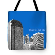 Bangkok Thailand Skyline 2 - Blue Tote Bag
