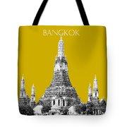 Bangkok Thailand Skyline Wat Arun - Gold Tote Bag