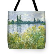 Banks Of The Seine Vetheuil Tote Bag