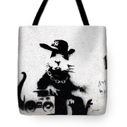 Banksy Boombox  Tote Bag