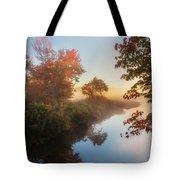 Bantam River Sunrise Tote Bag by Bill Wakeley