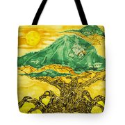 Banyan And Two Suns Tote Bag