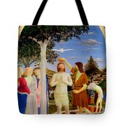 Baptism Of Christ - Oil On Canvas Tote Bag
