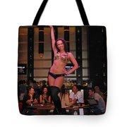 Bar Top Dancer In Las Vegas Tote Bag