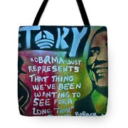 Barack And Fifty Cent Tote Bag