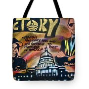 Barack And Russell Simmons Tote Bag