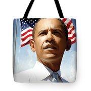Barack Obama Artwork 1 Tote Bag by Sheraz A