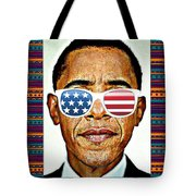 Barack Obama Tote Bag by Nuno Marques