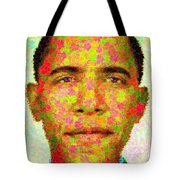 Barack Obama - Maple Leaves Tote Bag