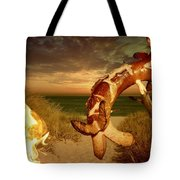 Barbecue On The Beach Tote Bag