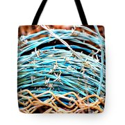 Barbed Blue Tote Bag